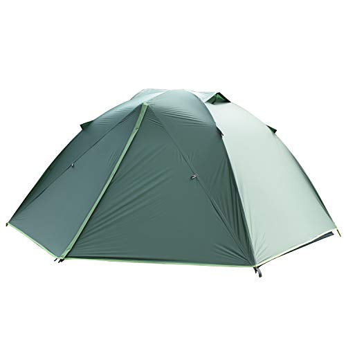 SAFACUS Backpacking Tent for Outdoor,Lightweight Ultralight Portable Tents for Camping Hiking Mountaineering,Easy Set Up with Compact Folding Aluminum Poles(Dark Green 2people - Bar Net Mosquito