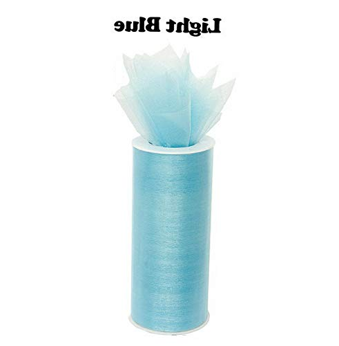 (Mikash 6 Organza Fabric Spool Roll Wedding Party Decoration Chair Bow Sash 25 Yards | Model WDDNGDCRTN - 23776 |)