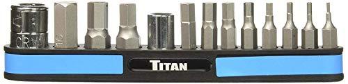 Titan TIT16112 Metric Hex Bit Set, 13 Piece (13 Piece Metric Hex Bit Set)