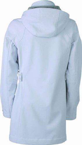 James & Nicholson Softshellmantel - Abrigo Mujer Blanco (offwhite/silver)