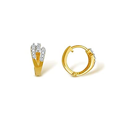 Buy Nishtaa 22K Yellow Gold Hoop Earrings line at Low Prices in