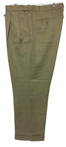 Microfiber Dress Pants (Savane Men Microfiber Dress Pants (40W x 32L, Khaki))