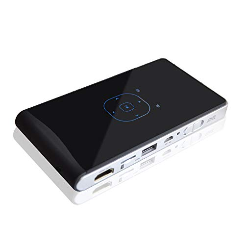 Portable mini projector that can connect to wireless Bluetooth, LED mobile multimedia video projector, with HDMI / USB / SD smartphone laptop, home theater entertainment, outdoor movies and games ,Whi from ZYG.GG