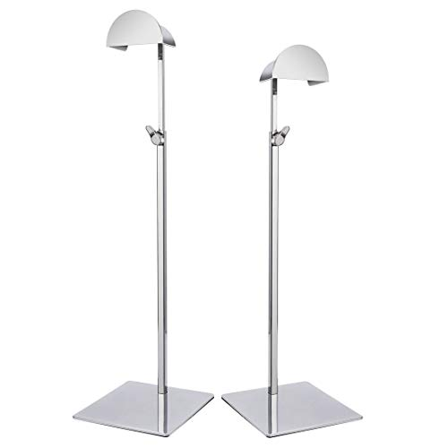Display Stand Handbag Rack with Hook Metal Silver Holder Adjustable Height Pack of 2 Silver, M013