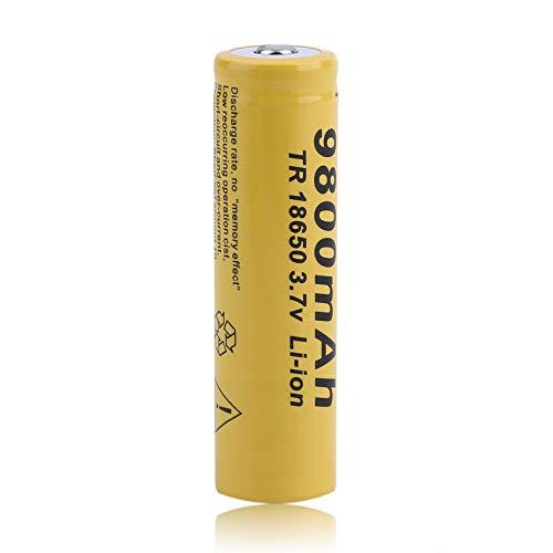 10pcs set 18650 batterie 3.7V 9800MAH de batterie rechargeable de Li-ion pour la torche