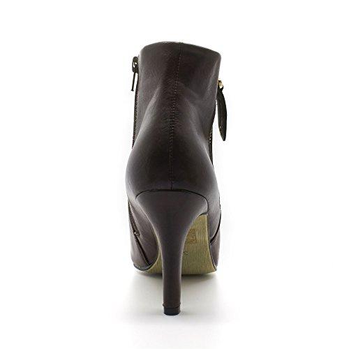 London Footwear Erykah, Women's Ankle Boots Brown