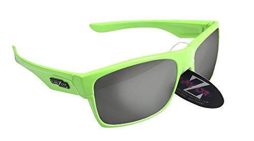 RayZor Professional Lunettes de soleil UV400Vert de Sport, ultra léger avec un fumé Effet miroir anti-reflet Objectif
