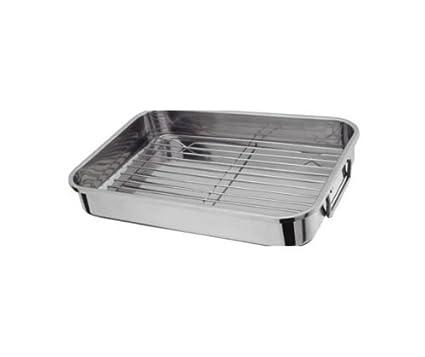 [S] Hachette 27 x 20 cm acero inoxidable bandejas de horno horno de horno