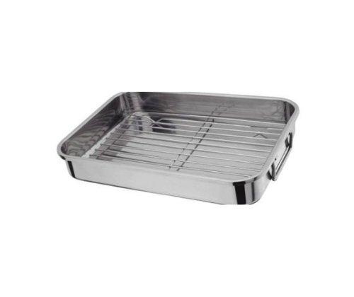 S] Hachette 27 x 20 cm de acero inoxidable para horno fuente para ...