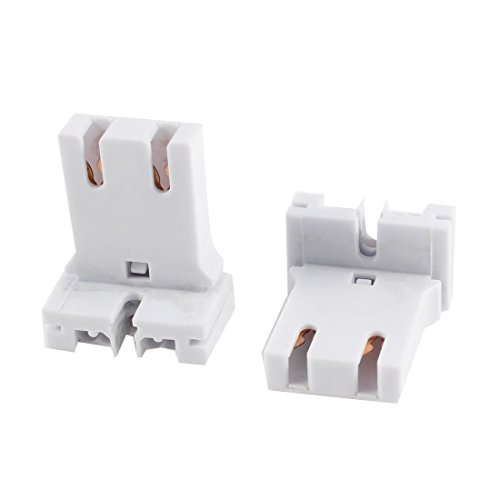 2 Pcs of U-Shaped T8 T12 Fluorescent Lamp Holder Light Socket Plastic Lamps Holder Medium Bi-Pin Sockets Fit T8 / T12 LED Fluorescent Lamps