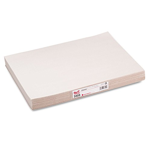 Pacon 3409 White Newsprint, 30 lbs, 12 x 18, White, 500 Sheets/Pack by Pacon