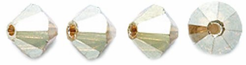 Preciosa Czech Crystal Bicone Beads, 5 by 5mm, Golden Flare, 144-pack