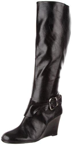 Aerosoles Plum What May - Botas de cuero para mujer negro negro
