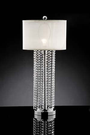 Shining Crystal Silver Table Lamp ADSok-90142t