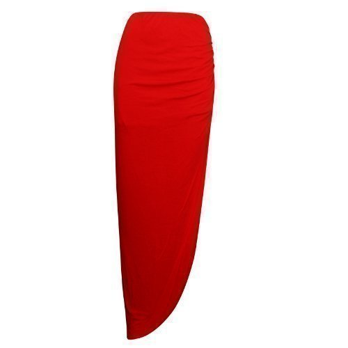 Cot Jupe Rouge Fendue XpoZed Gypsy Maxi Fronc Moda Femme IHn5n