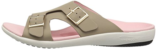Light Women''s Taupe Brighton Slide Spenco Sandal ZIxdqI4