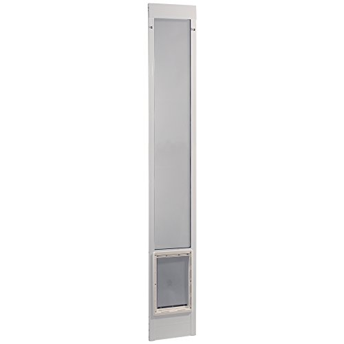 Ideal Pet Products 96'' Fast Fit Aluminum Pet Patio Door, Extra Large, 10.5'' x 15'' Flap Size, White by Ideal Pet Products