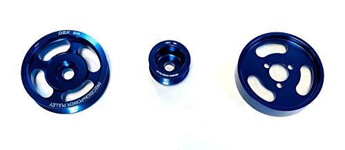 OBX Performance Polished Blue Pulley Set 93-97 VW Passat, 93-03 Jetta VR6 2.8L 12V SOHC