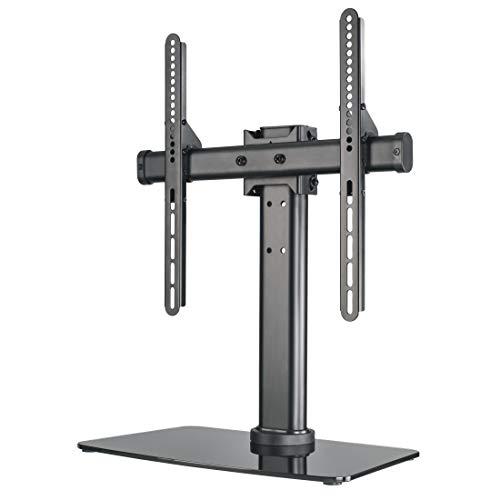 Hama Socle TV (inclinable, rotatif, entièrement mobile (pour téléviseurs de 81 à 165 cm, 32 à 65 pouces, hauteur réglable, socle en verre jusqu'à 40 kg, VESA jusqu'à 600x400) Noir