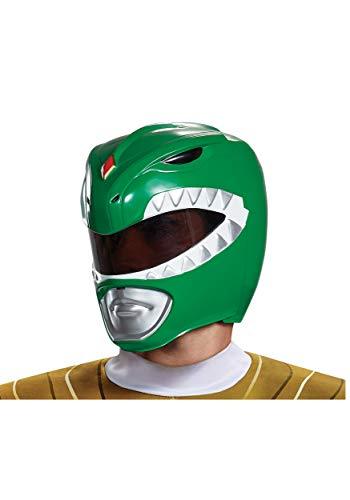 Disguise Men's Green Ranger Adult Helmet, One -