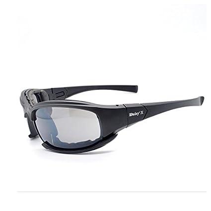 Gafas de sol tácticas polarizadas 4LS para hombre, resistente a impactos de airsoft, ahumadas, para ciclismo o motociclismo, UV400 MODEL: Amazon.es: ...