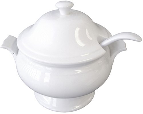BIA Cordon Bleu Nouveau 3-Piece Soup Tureen Serving Set with Ladle, White (Soup Bleu)
