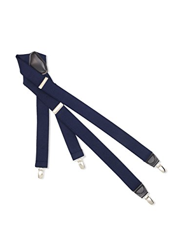(Dockers Men's Solid Suspender, Navy, One)