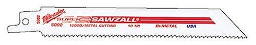 MILWAUKEE Super SAWZALL Blade 10T 4in Length (5PK) Part # 48-00-5090