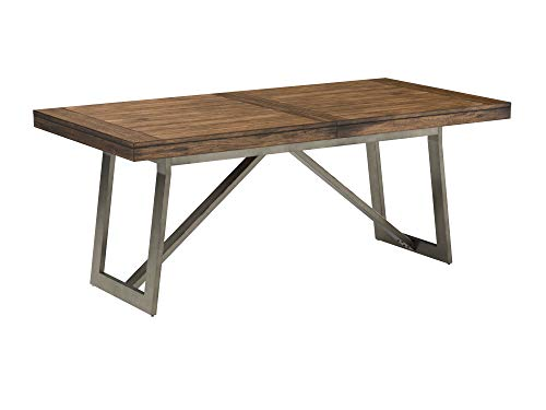 Stone & Beam Hughes Casual Wood and Metal Extendable Dining Table, 74-104