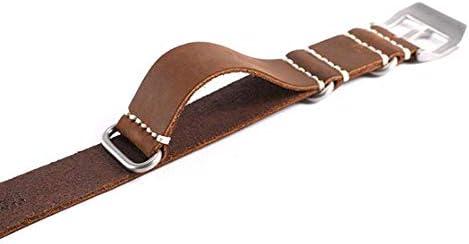 腕時計ベルト 時計ハンド 本革 替えベルト NATOベルト 調節工具付き おしゃれ 高級感 快適 通気 防水 吸汗 柔軟 軽い 20mm 22mm 24mm 26mm (24mm, ブラック)