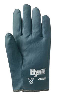 7 Hynit Nitrile Impregnated Glove With Perforated Back And Slip-On ()