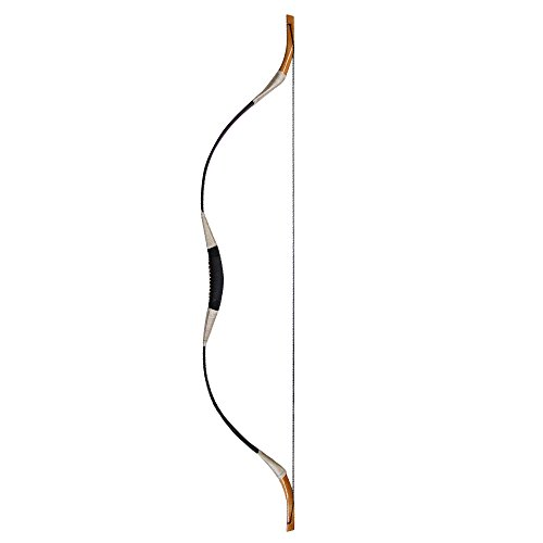 55 Inch Black Recurve Archery Bow Hunting Bow Traditional Handmade Horsebow 30-60 Pound (50 LB)