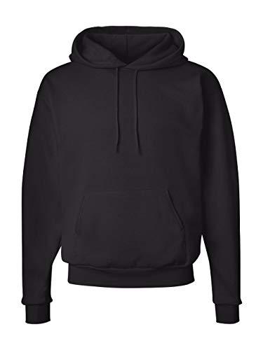 Sudadera con capucha EcoSmart Fleece para hombre de Hanes, Negro, X-Large