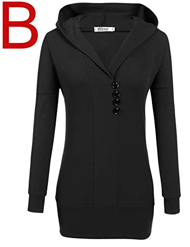 fcdc7591d Beyove Women's Pullover Hooded Sweatshirt Long Sleeve T Shirt Tunic Top  with Pockets