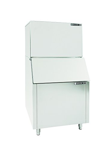 Maxx Ice MIM600B Modular 600 Pound Stainless Steel Commercial Clear Ice Maker with 400 Pound Ice Bin ()