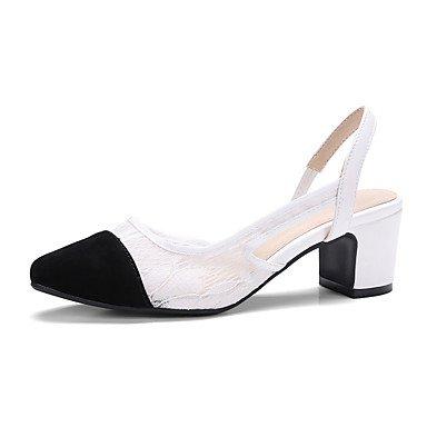 LvYuan Mujer-Tacón Robusto-Otro-Sandalias-Vestido Informal Fiesta y Noche-PU-Negro Blanco Black