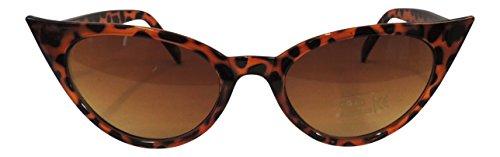 UV400 Retro de gafas 50s ojo Marrón 1950 nbsp;mujer Fashion de de sol gato Vintage nbsp;estilo 7wXq0v