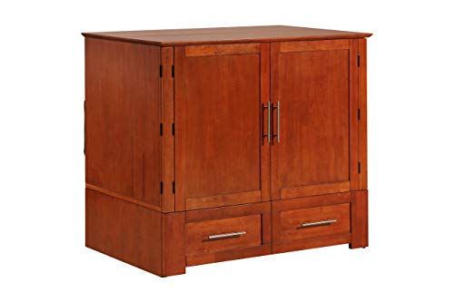 Emurphybed Daily Delight Murphy Cabinet Chest Bed with Charging Station  6