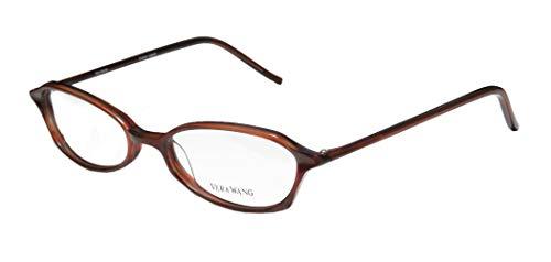Vera Wang V38 Womens/Girls Designer Full-rim Durable Inexpensive Demo Lens Eyeglasses/Glasses (49-17-135, Burgundy)