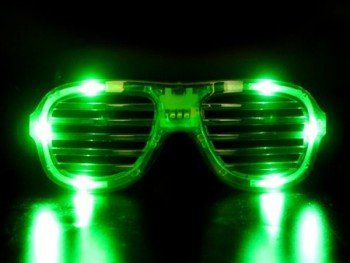 Clear LED Slotted Sunglasses Great for Raves or Parties r55waep