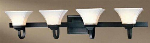 Minka Lavery 6814-66, Agilis Reversible Glass Wall Vanity Lighting, 4 Light, 400 Total Watts, Black