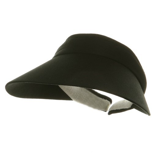 Large Peak Twill Clip On-Black - Clip Sun