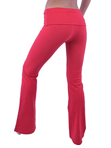 Vivian's Fashions Yoga Pants - Extra Long, Junior Size (Red, 3X)