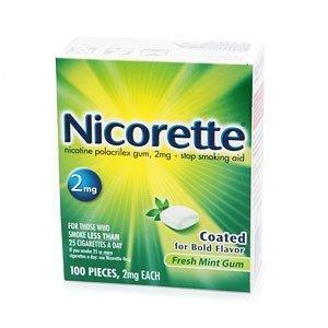 Nicorette FRESH MINT 2mg Coated Gum 100 Pieces Stop Smoking