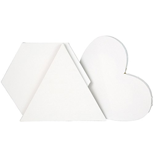 Transon Artist Primed Stretched Canvas Triangle Hexagon Heart 3 Special Shapes Value Pack Size (Iii Stretched Canvas)