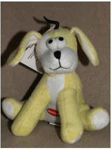 Dog Toy Zanies Bungee Barker Plush Pull Toy with Squeaker - Yellow