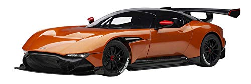 Aston Martin Vulcan Madagascar Orange with Carbon Top 1/18 Model Car by Autoart 70264