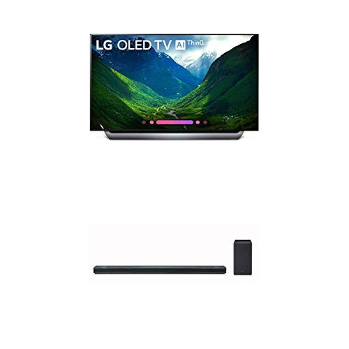 LG Electronics OLED55C8PUA 55-Inch 4K Ultra HD Smart OLED TV (2018 Model) Bundle with LG SK10Y 5.1.2 Channel Hi-Res Audio Sound Bar with Dolby Atmos (2018)