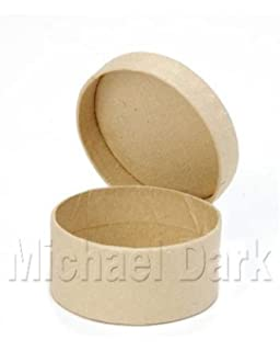 Pack Of 12 Small Round Craft Boxes Plain For Decorating