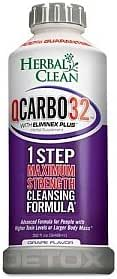 Herbal Clean QCarbo32 Fast Cleansing Drink Grape Flavor - 32 Ounce - Same Day Detox
